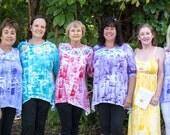 Hand painted tunic - plus size tunic - womens tunic - long sleeve tunic - hawaiian shirt - hand painted hawaii - cotton tunic