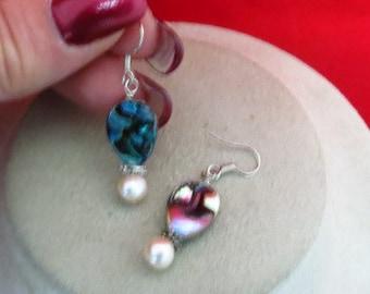 Handmade Pearl & Shell Earrings