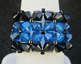 Thin Blue Line RIng Wrap RIng. Also Available in THIN RED LINE