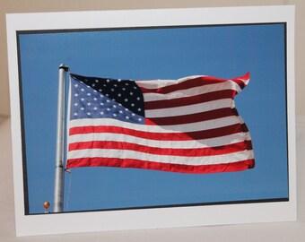 photo card, American Flag, USA Patriotism