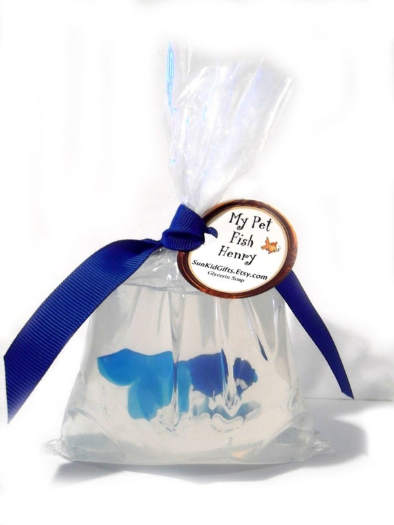 Fish in a Bag Soap Pet Fish Soap Favors Kids by SunKidOrganics