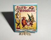 Dollhouse Miniature Book ALICE in WONDERLAND, Lewis Carroll, John Tenniel, McLoughlin Bros, Dollhouse Childrens Nursery Story Book Accessory