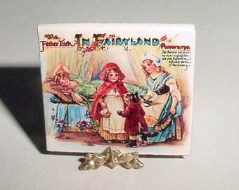 Dollhouse MiniatureBook  IN FAIRYLAND Panorama Book - Raphael Tuck & Sons - Dollhouse Fairytale Childrens Nursery Story Book, 4 Fairy Tales