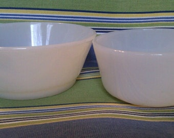 Vintage Anchor Hocking Fire King White Bowls