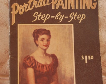 Vintage Portrait Painting Book Step by step instructions