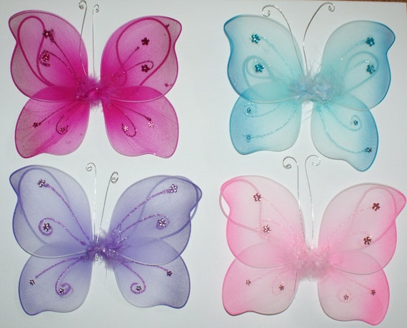 Butterfly curtain tie backs for childrens room, nursery decor by CoolbabyBoutique