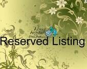 Reserved Listing for Jennifer Hight