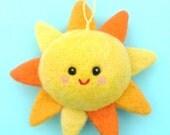 Soft Happy Sun Nursery Decoration, Mobile Charm