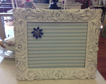 MAGNET BOARD Ornate Picture Frame Nursery Decor  Baby Gift Babyshower Decoration Picture Display Vintage