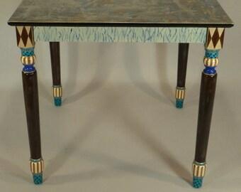 Hall Table-Turned Legs: Cobalt, Custom Made-To-Order