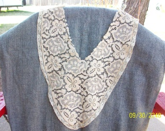 Vintage Lace Collar (1940s)  (was detached so used for many outfits)