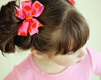 Polka dot pigtail bows