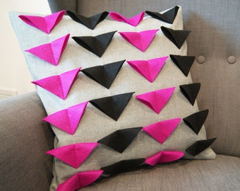 Pink Triangle Pillow Cover - Clearance