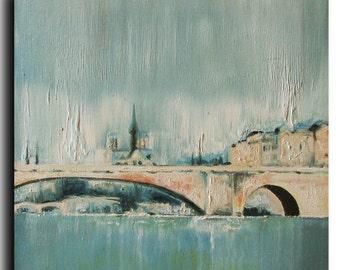 """10""""x10"""" Original Oil Painting fine Art - by Tatjana Ruzin - Original Painting, Old City landscape painting"""