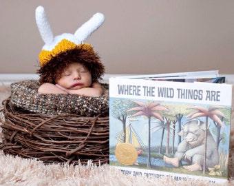 Knitted Baby Beanie Hat Max Where The Wild Things Are