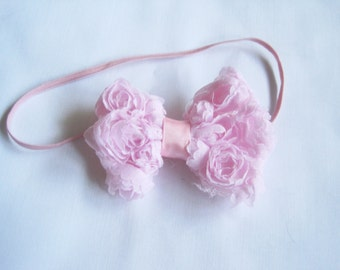 Baby Pink Bow, Infant Bow, Baby Girl Bow, Baby Headbands, Infant Headbands, Baby Girl Headbands