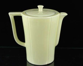 Mid Century Pitcher Light Yellow Coffee Pot Foreman Brothers