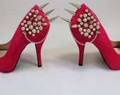 Pink Cluster of Studs heels Size 6