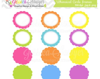 INSTANT DOWNLOAD,  round digital frames, printable labels, editable tags, cute labels for scrapbooking, invitations, cards