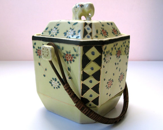 Vintage Ceramic Japanese Biscuit Barrel Lolly By Rainbowrewind