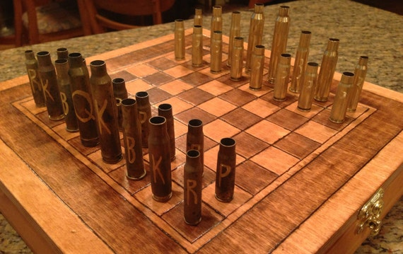 Bullet Casing Chess Set