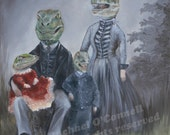 1800s Raptor Family Portrait 8x10 ltd ed print