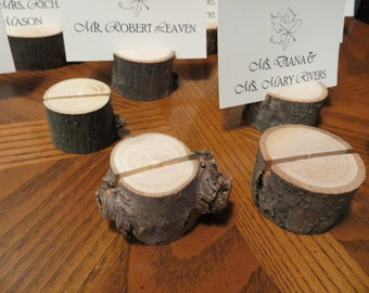 Wood Place Card Holders