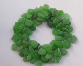 Glass Jewelry Supply - Sea Glass Green Lot - Bulk Beach Combed Eco Friendly Genuine Beads Jewelry Supply