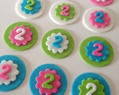 Age or Initial Personalized 2 inch Cupcake Toppers