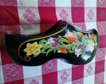 Vintage  Souvenir from Holland,   Wooden Shoe  ECS