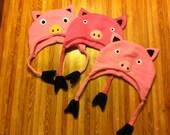 3 Little Pigs Fleece Hats