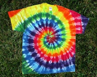 Rainbow Spiral Tie-Dye Tee