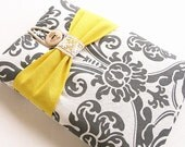 Kindle case,Kindle Sleeve, Kindle fire cover, Nook cover, Google Nexus 7 case-Damask bow.