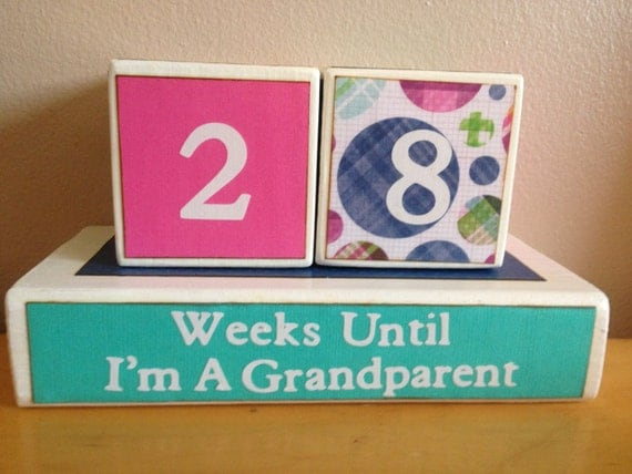 Baby Gifts For New Grandparents : Items similar to countdown grandchild grandparents