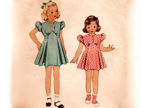 vintage 1930s childrens sewing pattern little