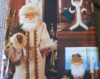 """Vogue 8126 3 dolls """"Father Christmas"""" Dolls size 26"""", 16"""" and 12"""""""