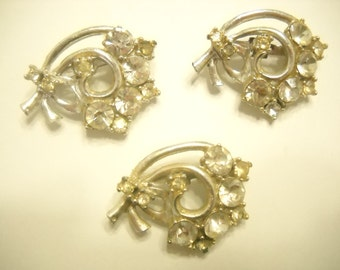 Three Foil Back RHINESTONE SCATTER PINS (3620)