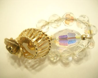 AUSTRIAN CRYSTAL BROOCH--Oval Shaped (3556)