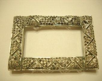 ART DECO FASTENER (7138) Picture Frame Design, Tiny Rhinestones