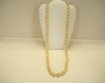 """30"""" PALE GOLD STRING Beaded Necklace (7335)"""