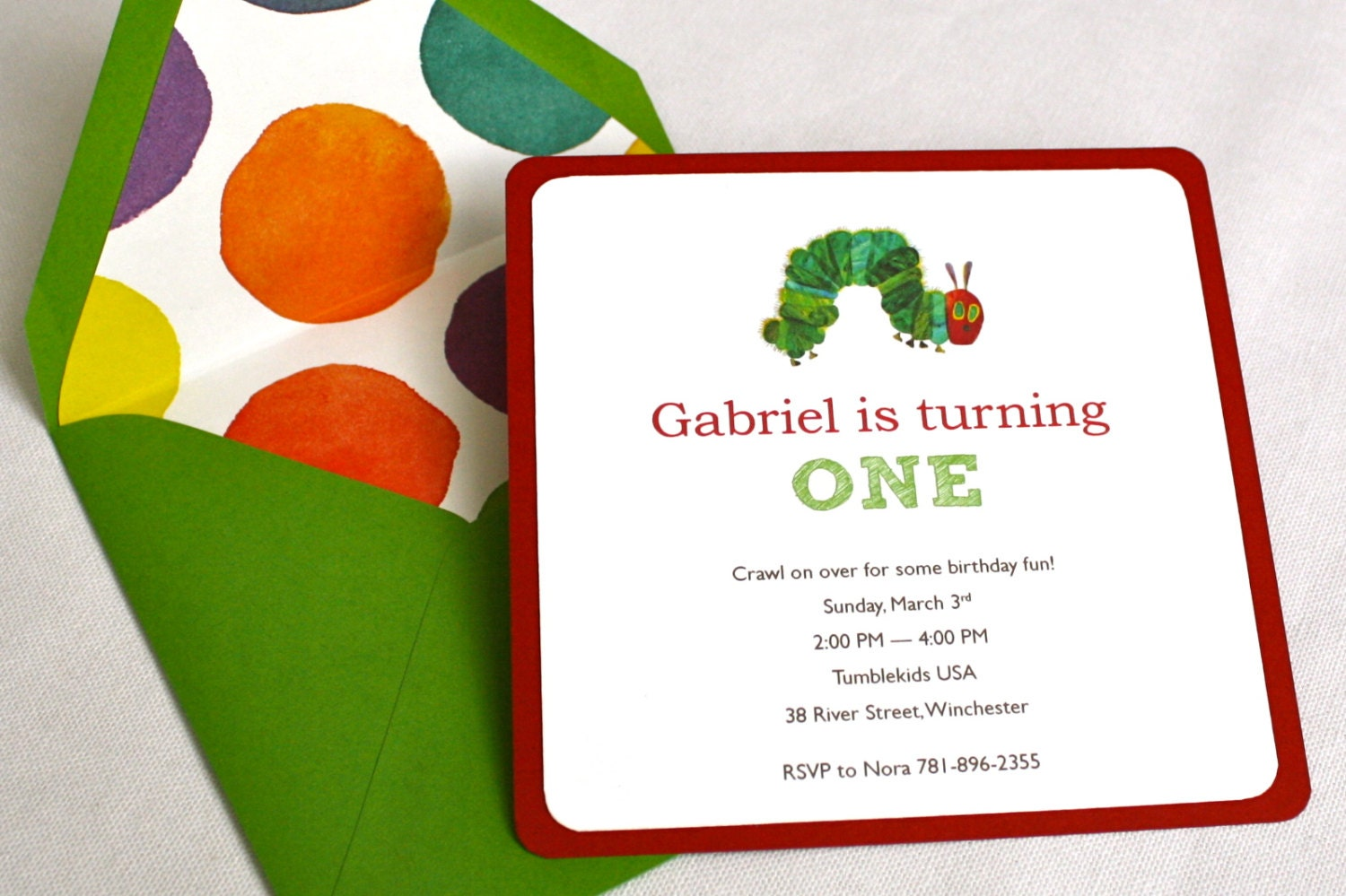 Hungry Caterpillar Invite is awesome invitation sample