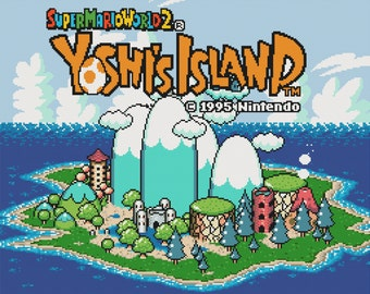 Yoshi's Island Title Screen Cross Stitch Pattern