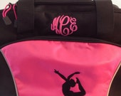 Monogrammable/Personalized Duffle Bag, Cheer, Yoga,  Swim, Ballet anything Bag