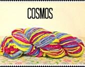Hand spun Hand Dyed Merino Wool Yarn Cosmos
