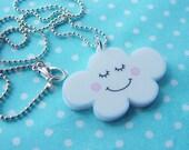 Cute Cloud Weather Necklace - Kawaii Childrens Jewellery