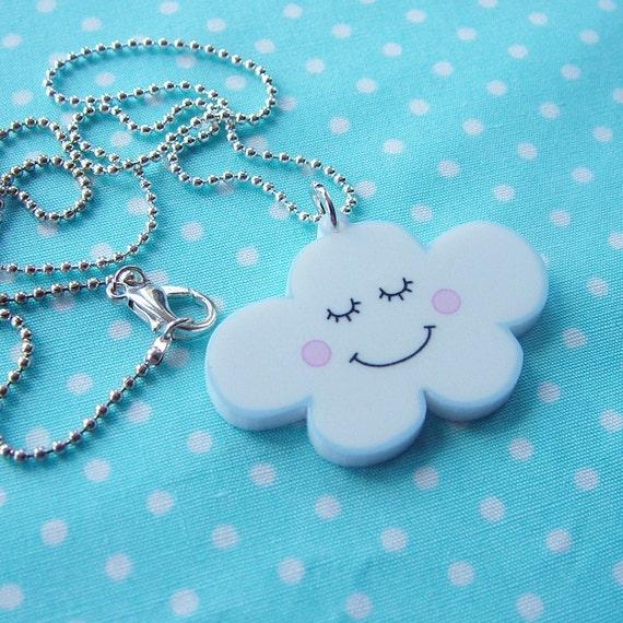 Cloud Necklace - Kawaii Jewelry - Cloud Jewelry - Kawaii Cloud  Weather