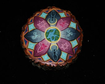 Hand painted Goddess Mandala