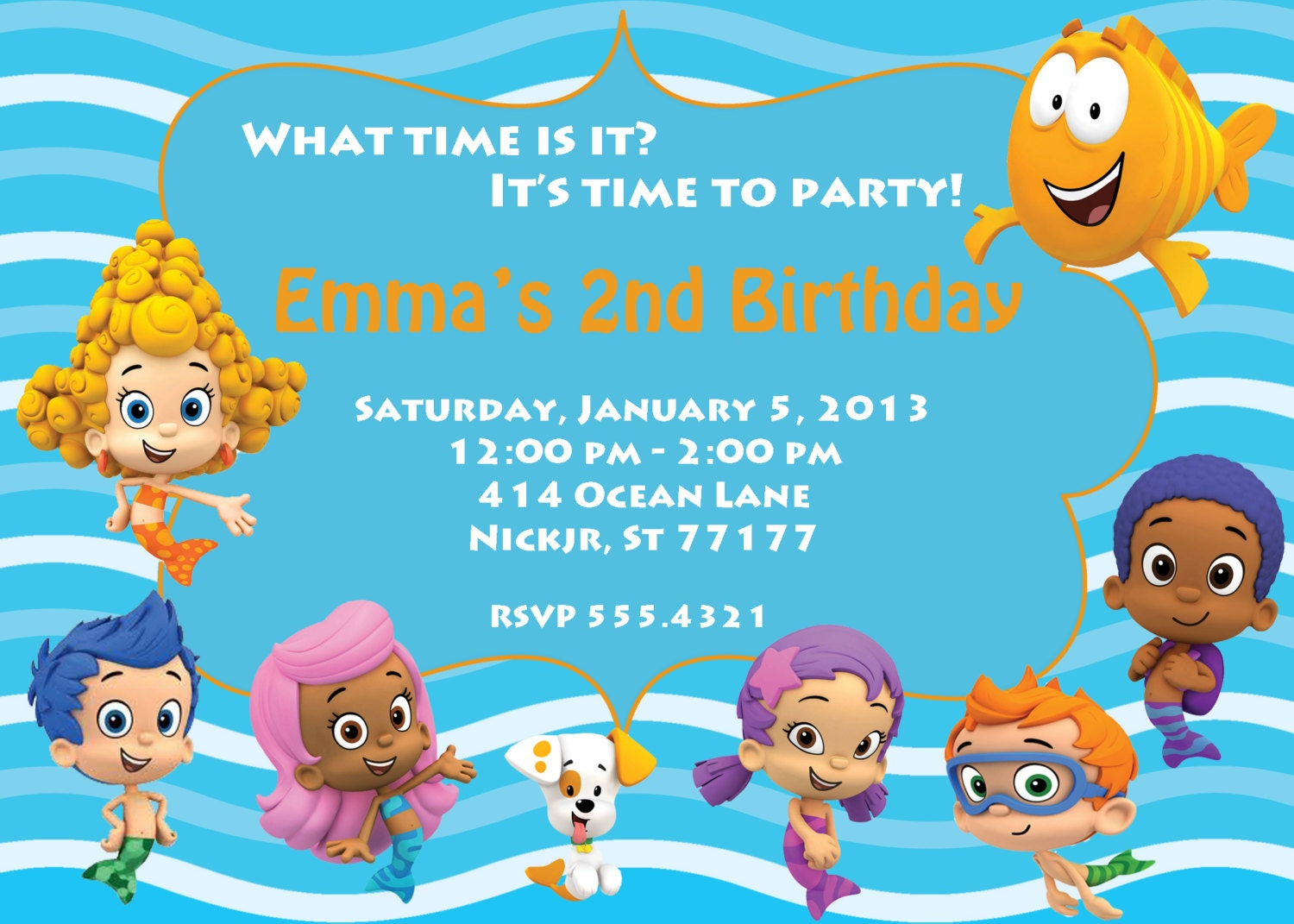 Bubble Guppy Invitations was beautiful invitation sample