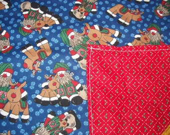 CHRISTMAS TABLE RUNNERS - 4 Different Prints, - all with coordinating reverse fabric