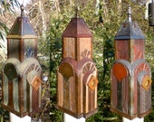RESERVED for Chip: New York, New York, Art Deco Birdhouse Made of Reclaimed Wood and Metal